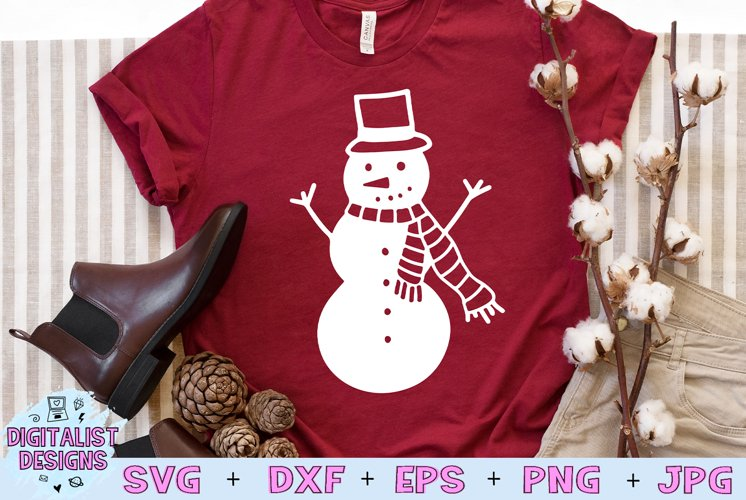 Snowman SVG   Christmas SVG   Holiday SVG example image 1