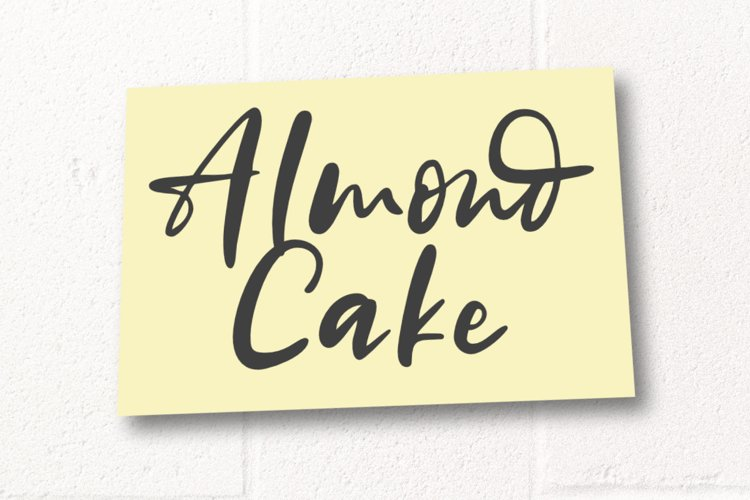 Almond Cake | Handwritten Font example image 1