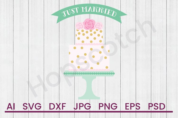 Wedding Cake SVG, Married SVG, DXF File, Cuttatable File example image 1