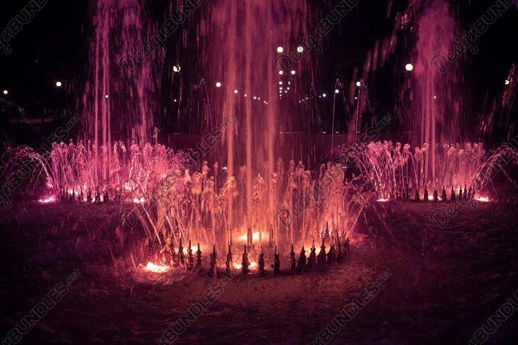 Shining evening fountain example image 1