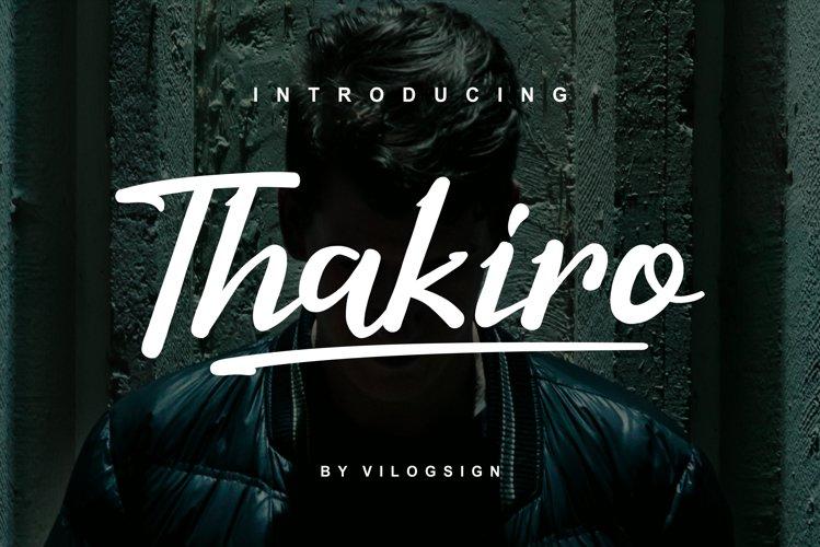 Thakiro // Modern Script Font example image 1