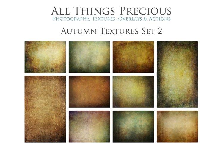 10 Fine Art AUTUMN Textures SET 2 example image 1
