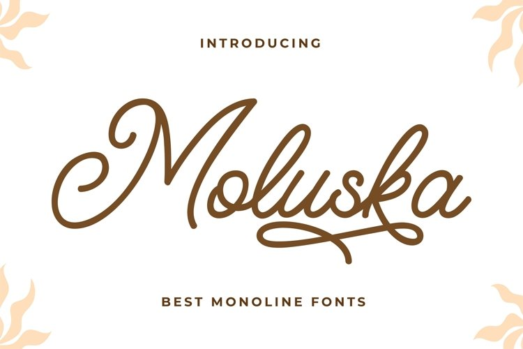 Moluska - Beautiful Monoline Fonts example image 1