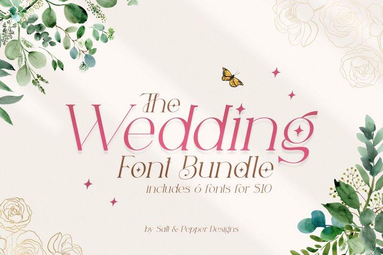 The Wedding Font Bundle example image 1