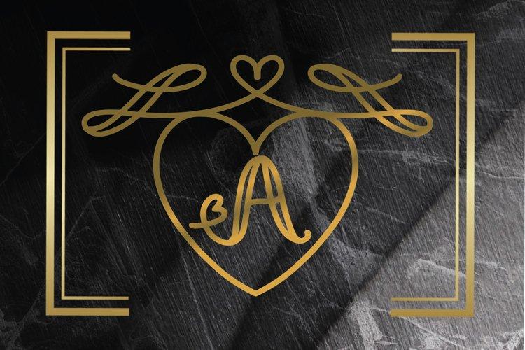 monogram love example image 1