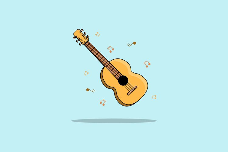 Classical Guitar Vector illustration example image 1