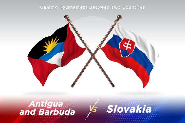 Antigua vs Slovakia Two Flags example image 1