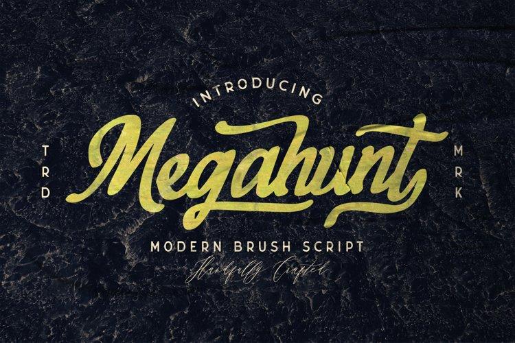 Megahunt - Brush Script Font example image 1