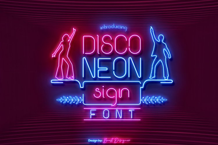 Disco Neon Sign Font example image 1