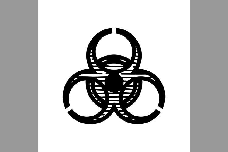 hand drawn chemical, danger symbol line icon, Vector Illustr example image 1
