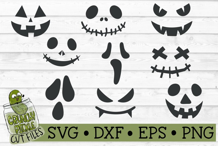 Jack Faces Halloween Mini SVG Bundle