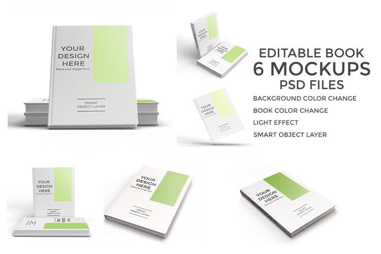 6 scene of Book Mockup PSD Vol.1