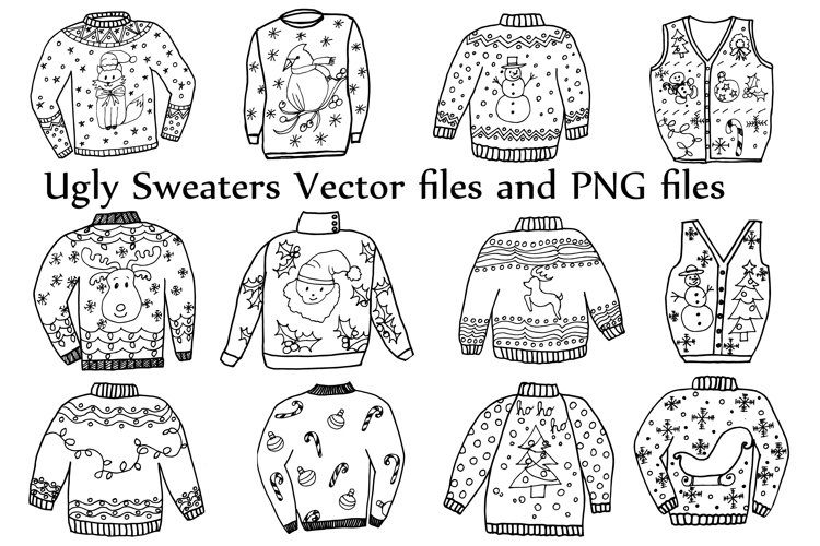 Ugly Sweater ClipArt and Vector