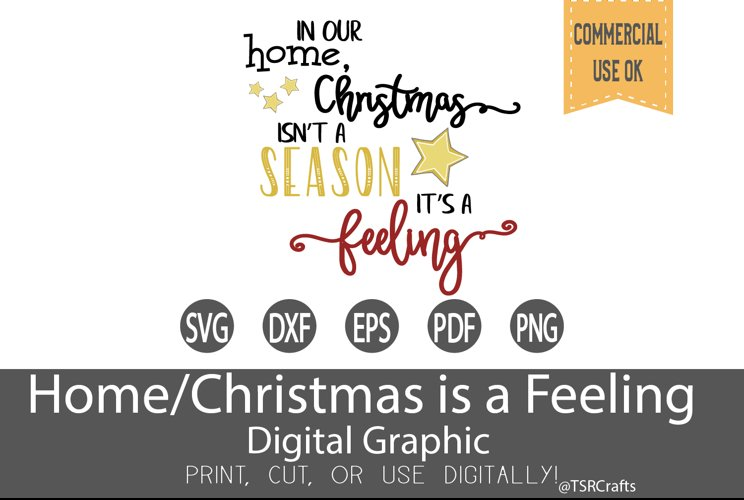 Christmas SVG -In our Home Xmas isn't a season its a feeling example image 1