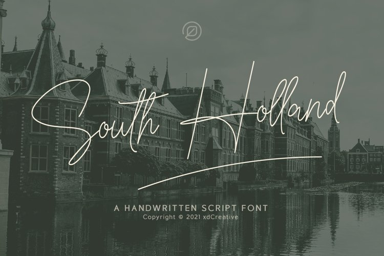 South Holland Signature font example image 1