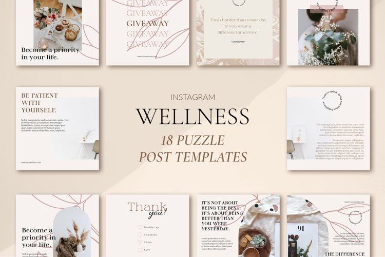 Wellness Puzzle Instagram Templates