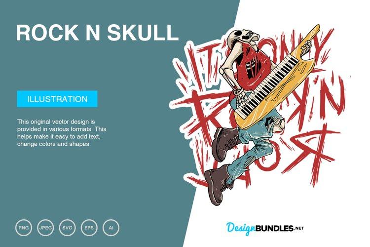 Rock n Skull Vector Illustration example image 1