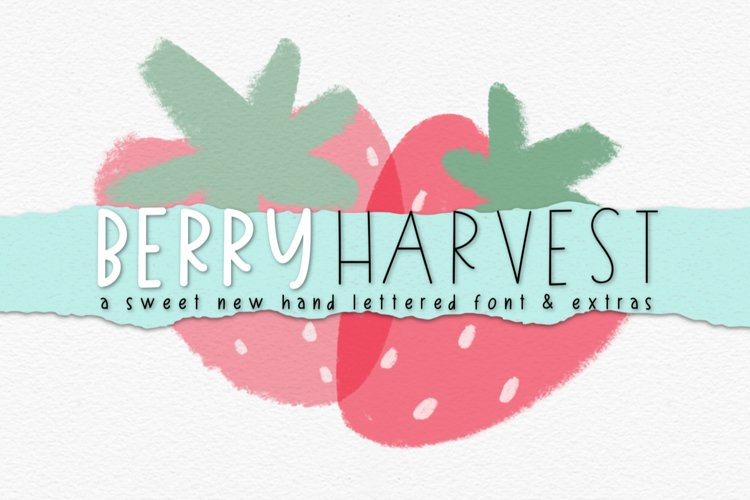 Berry Harvest Font & Extras example image 1