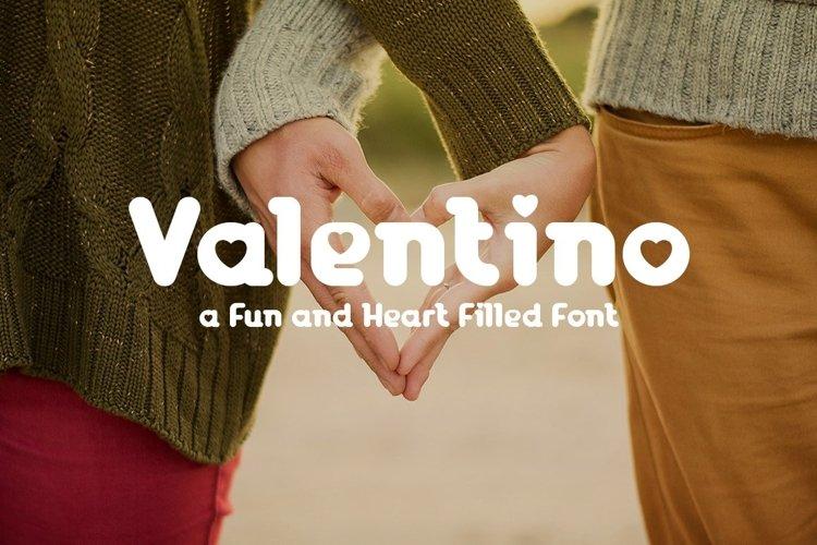 Web Font Valentino example image 1