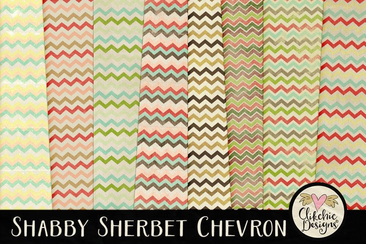 Shabby Sherbet Chevron Background Textures example image 1