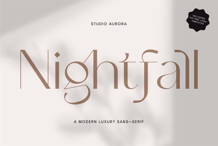 Nightfall - Modern Luxury Sans-Serif example image 1