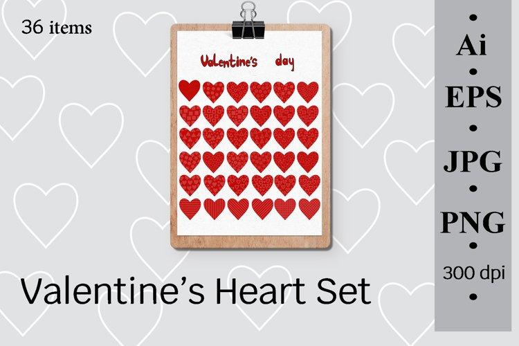 Valentine's Heart Set, 36 items example image 1
