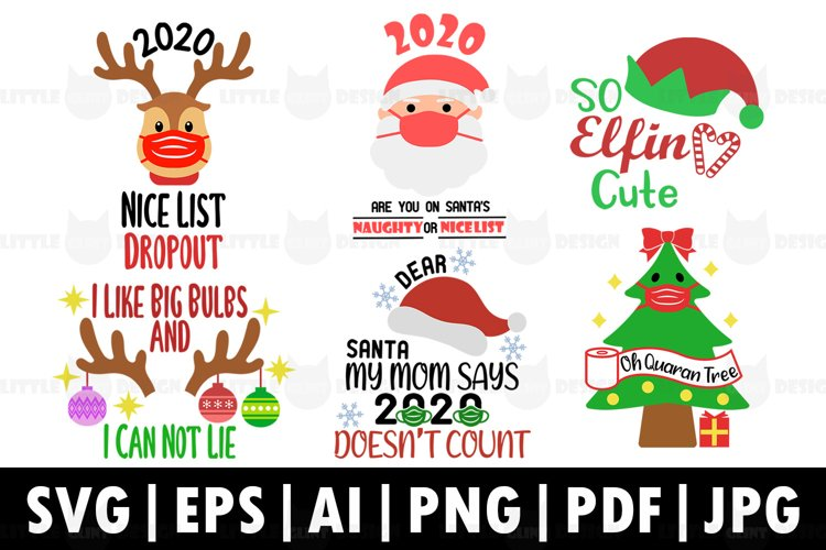 2020 Funny Christmas SVG Bundle, Winter Clip art example image 1