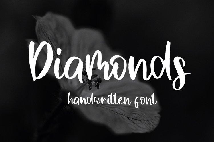 Diamonds Handwritten Font example image 1
