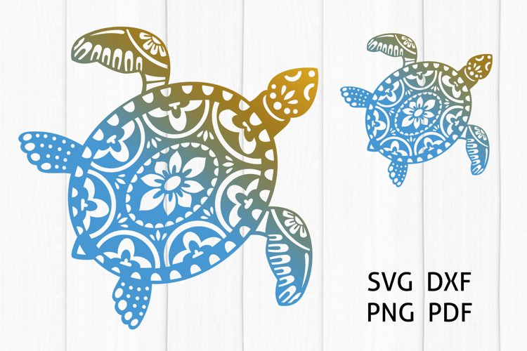 Sea turtle Svg, Ocean Turtle Mandala. Cut Files