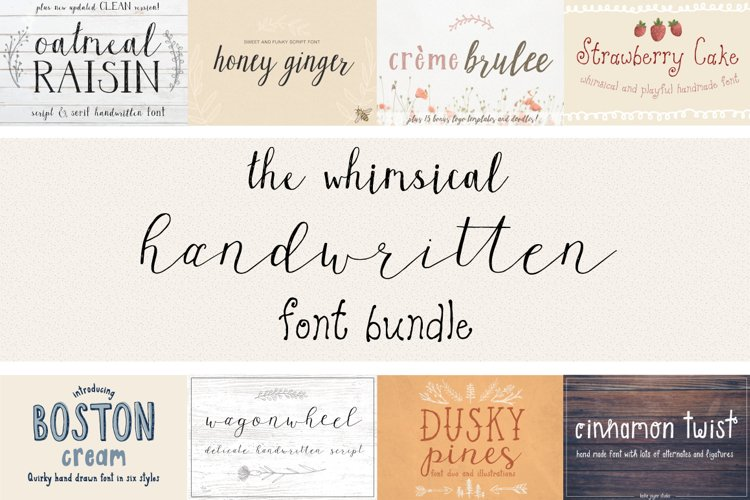 The Whimsical Handwritten Font Bundle example image 1