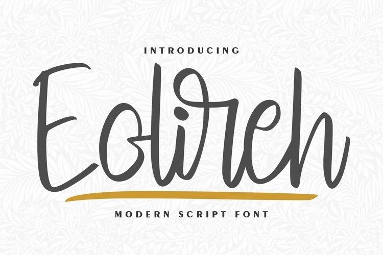 Eolireh   Modern Script Font example image 1