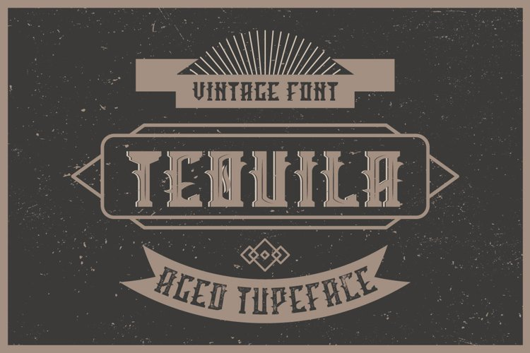 Tequila label font example image 1