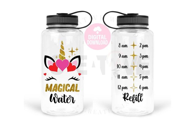 Unicorn Magical Water svg | Unicorn svg | Water Tracker svg