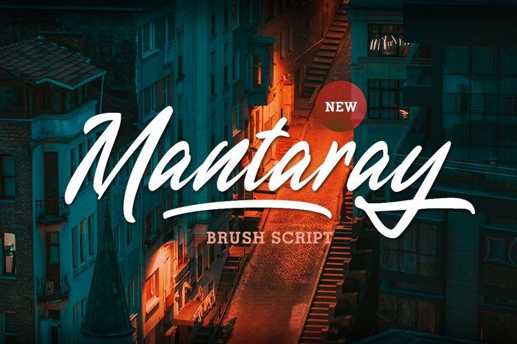 Mantaray - Brush Script example image 1