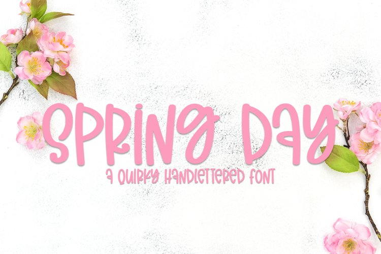 Spring Day - A Quirky Handlettered Font example image 1