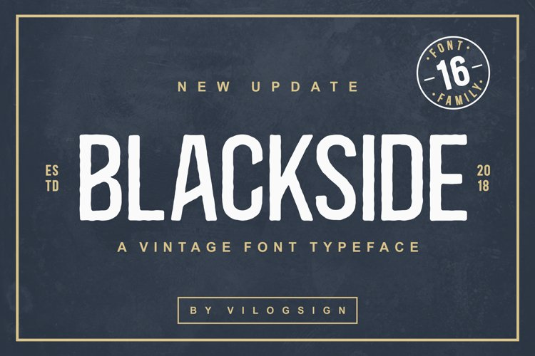 Blackside a Vintage Typeface example image 1