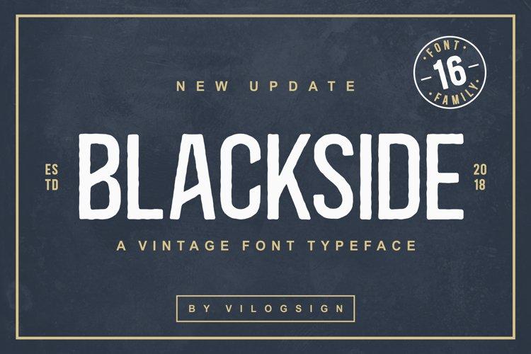 Blackside a Vintage Typeface