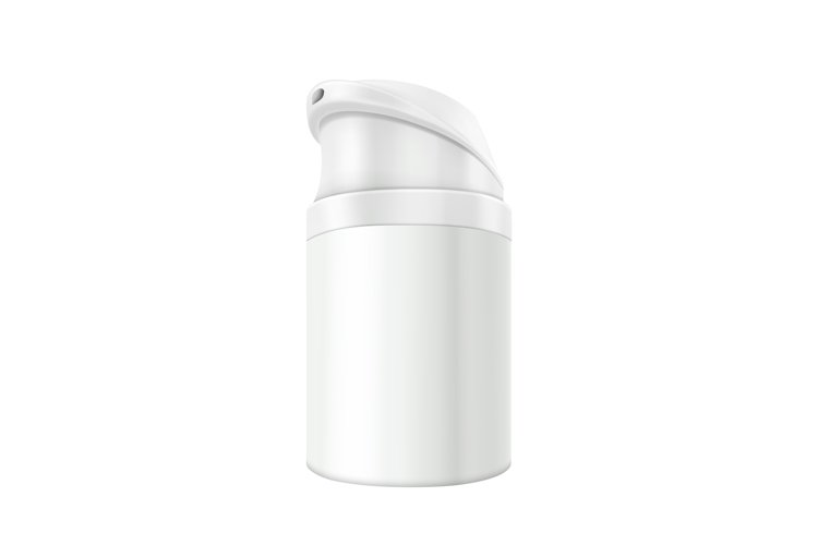 Cosmetic Foam Bottle Can Sprayer Container Vector example image 1