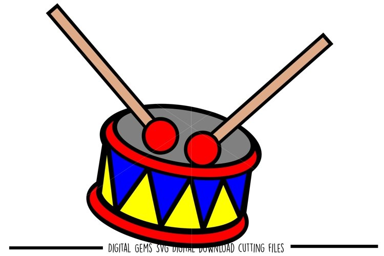 Drum SVG / PNG / EPS / DXF files example image 1
