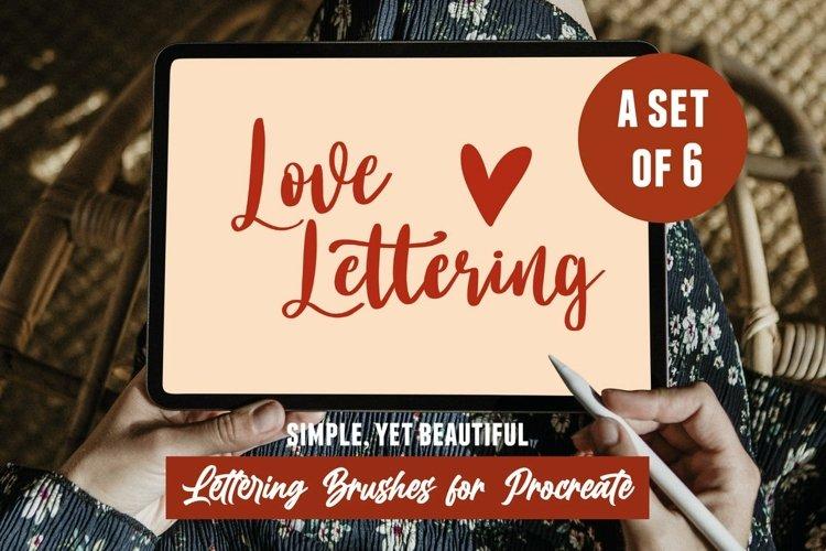Procreate Lettering Brushes - 6 sweet iPad Lettering Brushes