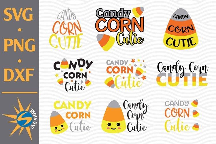 Candy Corn Cutie SVG, PNG, DXF Digital Files Include example image 1
