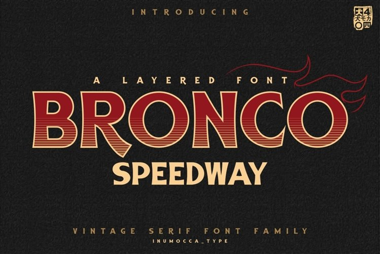 BRONCO SpeedWay Layered Font example image 1