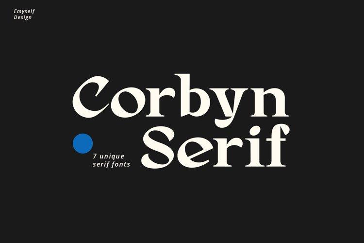 Corbyn Serif example image 1