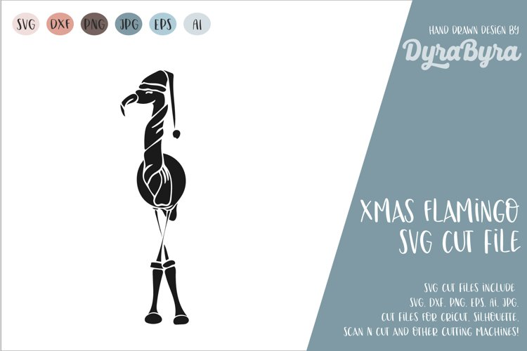 Flamingo Christmas SVG / Christmas SVG example image 1