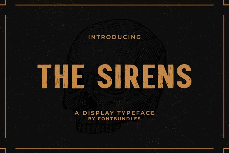 Web Font The Sirens example image 1