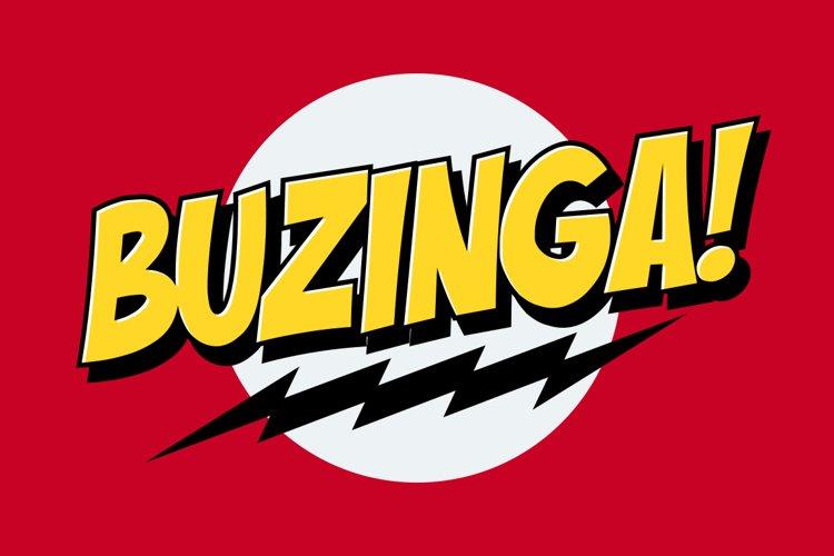 Buzinga! | Comic Layered Font example image 1