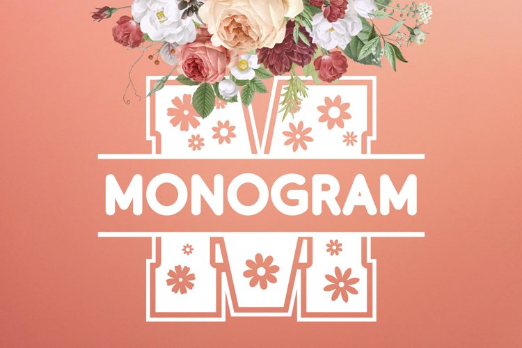 Flowers Split Monogram Font example image 1