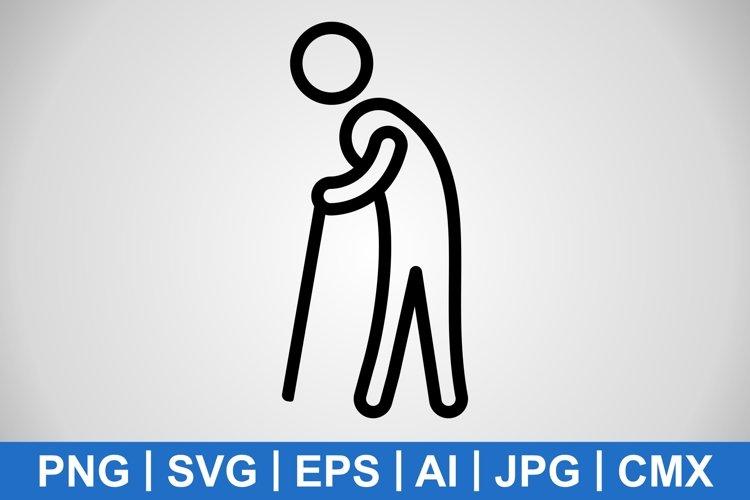 Vector Retirement Icon example image 1