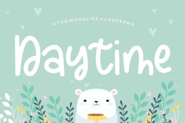 Daytime Fun Monoline Handdrawn Font example image 1