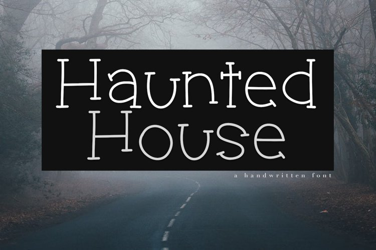 Haunted House - A Spooky Handwritten Font example image 1